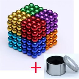 korea toys Canada - 216Pcs set 5mm Balls neodymium magnet Sphere Creative magnets imanes Magic Strong NdFeB colorful buck ball Cube Funny Puzzle Toys Gift
