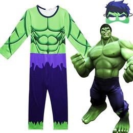 Green Spandex Jumpsuit NZ - Hot Green 3D Marvel Kids Child The Hulk Cosplay Costume Superhero High Quality Zentai Bodysuit Catsuit Battle Jumpsuit
