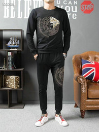 $enCountryForm.capitalKeyWord Australia - Mens Designer tracksuit Medusa Stick Diamond Embroidery Print Fashion Slim New High-end Plus Velvet Mens Sweater tracksuit