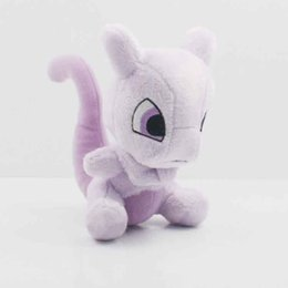 Pokemon Kids Figures Australia - New Brand Angry Pony Pokemon New kids gift Mewtwo Plush Toy Doll pp Cotton Pikachu eevee Series 17cm Hight cute nice