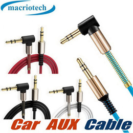 $enCountryForm.capitalKeyWord Australia - 3.5MM AUX Audio Cable Spring Elbow 90 Degree Angle AUX Male to Male Cable Cord Flat For Car Home Stereo iPhone Headset