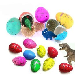 plastic dinosaur eggs Canada - Dinosaur Eggs Toy Hatching Growing Dino Dragon Novelty Gag Toys for Children Small Size Pack of 60pcs,Colorful Crack by