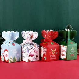 $enCountryForm.capitalKeyWord Australia - 2019 Merry Christmas Santa Claus Gifts Candy Box , Chocolate Packaging Box , Party Apple packing Supplies Boxes