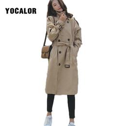 Wholesale vintage trench coats for women resale online - 2019 Loose Trench Long Coat Female For Windbreaker Women Autumn Moda Mujer Overcoat Cloak Sashes Bur Vintage Manteau Femme Hiver