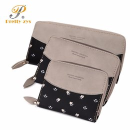 Size Wallet NZ - 3 Size Women's Floral Leather Wallet Fashion Patch Work Zipper Phone Change Card Clutch Wallets For Girls Coin Purses Holders