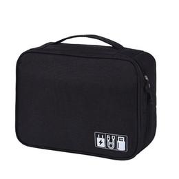 $enCountryForm.capitalKeyWord UK - Electronics Accessories Organizer Travel Storage Hand Bag Cable USB Drive Case Red Black Gray Purple Blue