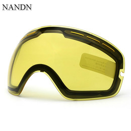 e60f13610d9 NANDN Night Day Vision Double Layer Anti Fog Ski Goggles Lens Changeable  Lenses Model NG3 Original DIY Skiing Goggle Extra Lens
