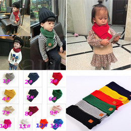 lovely fashion wholesale Canada - 2019 Hot Fashion Lovely Autumn Winter Boys Girls Baby Kid Solid Scarf Warm Knitted Scarves Women Scarf TO926