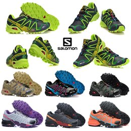 Lace cross online shopping - 2020 salomon speedcross CS athletic shoes mens women speed cross Black Blue running outdoor hiking sports sneakers