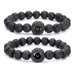 $enCountryForm.capitalKeyWord NZ - New styles 8MM Natural Black Lava Stone Tiger eye Bracelet DIY Aromatherapy Essential Oil Diffuser Bracelet