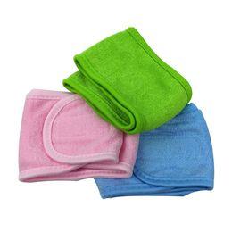 $enCountryForm.capitalKeyWord UK - Sweat-absorbent cotton hair band makeup face mask headband adjustable stick-up