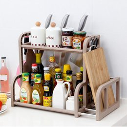 $enCountryForm.capitalKeyWord NZ - wholesale 2-Layer Multifunction Kitchen Storage Rack Seasoning Rack Kitchen Storage Shelves -