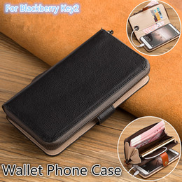 $enCountryForm.capitalKeyWord Australia - QX06 Genuine Leather Multi-Function Phone Bag For Blackberry Key2 Wallet Case For Blackberry Key2 Wallet Phone Case With Kickstand