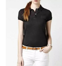 women cotton polo shirts Australia - Women Polo Shirt Summer Fashion big Horse crocodile Embroidery Lapel Polo Shirts Cotton Slim Fit Polos Top Casual polos shirts Summer