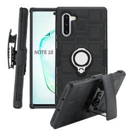 cellphone back case for samsung NZ - 3 in 1 Ring Phone Case for Samsung Galaxy Note 10 Waist Clip Back Cover for Samsung Galaxy S9 Plus A10 A20 M10 A80 cellphone Cases