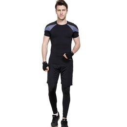 Male Fashion Suits Australia - ESHINES 2019 Fashion New Suit Men Polyester Spandex Material Thermal And Quick Dry Softwear Tight Suit For Male Cheap Price