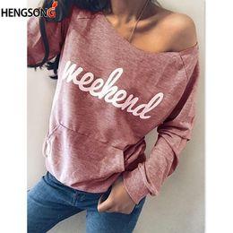 Wholesale Women Fashionable Tops Australia - Letter Print Women's Hoodie Fashionable Long Sleeve Casual Sweatshirt Front Pocket Loose Tops Kawaii Sweatshirt Clothing