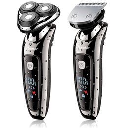 Shavers For Head Australia - Wet Dry Electric Shaver Facial Electric Razor For Men Male Beard Shaving Machine Rotary Head Usb Rechargeable 2in1 Grooming Kit T9190617