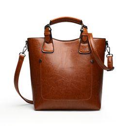 Multi Color Ladies Handbags UK - 2019 New Fashion Women Handbags Soft PU Leather Shoulder Bags Lady Large Capacity Solid Multi Color Female Casual Tote bag