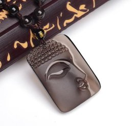Security Pendant Australia - Natural ice kinds of obsidian pendant Lucky Buddha amulet security and peace