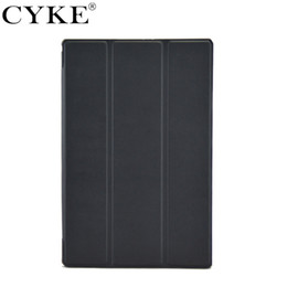sony tablets Australia - CYKE Ultra Thin cover For Sony Xperia Tablet Z2 Z3 Trifold Leather Smart Case With Auto Sleep Wake Function