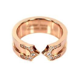 Ring Width Size Australia - 100% NEW 316 titanium steel Couples ring Width 7mm Size : 5 6 7 8 9 10 11 Designer jewelry