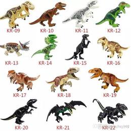 $enCountryForm.capitalKeyWord Australia - Dinosaur Building Blocks 3D Assembly ABS Plastic Dunosaur Miniature Action Figures Jurassic Park The Dinosaur World For Kids Great Gift