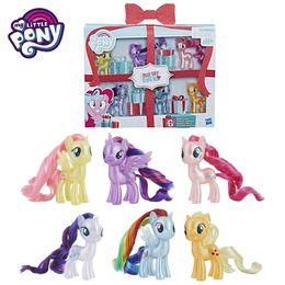 Sparkle Toy Australia - 6pcs set My Little Pony Color Boxed Toy Set Twilight Sparkle Princess Celestia Pinkie Pie Flutter Shy Action Figure Dolls Toys Gift
