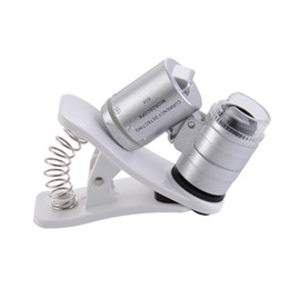 Microscope for phone online shopping - 60X Clip On phone Microscope Magnifier with LED UV Lights for Universal SmartPhones iPhone Samsung HTC Magnifier