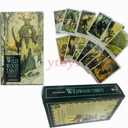Chinese  Magic Wild Wood Tarot Read Fate Tarot Cards Game For Personal Use Board Games A 78-card Deck And Guidebook manufacturers