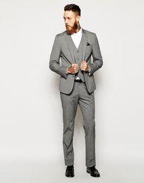 Images Fashionable Suits Australia - Fashionable Two Buttons Groomsmen Notch Lapel Groom Tuxedos Men Suits Wedding Prom Dinner Best Man Blazer(Jacket+Pants+Tie+Vest) 521