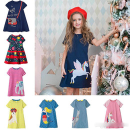 Wholesale Kids Dress Jersey Baby Girl Dress Hot Sale Cotton Dresses for Kids Clothing Baby Girl Clothes