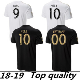 18 19 Los Angeles FC Soccer Jerseys GABER ROSSI 10 VELA CIMAN ZIMMERMAN  Custom Black White LAFC Adult 2019 Football Shirts 8bd766a38