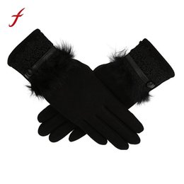 $enCountryForm.capitalKeyWord Australia - Feitong Women Gloves handschoenen Winter Warm Full Finger Gloves Fake Fur Lace Touched Screen Gloves Mittens guantes mujer 2018 D19011005
