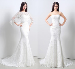 $enCountryForm.capitalKeyWord NZ - Elegant Gowns Sweetheart With Wrap Mermaid Lace Long Wedding Party Bride Dresses For Women Wedding Dresses