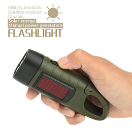 cranked flashlight Australia - Portable LED Hand Crank Dynamo Solar Powered Flashlight Rechargeable LED Outdoor Camping Emergency Torch for Night Cycling