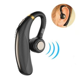 Wholesale K06 Ear hook Bluetooth Headset Compatible with Android long standby Playing Time V4 Car Wireless Earphones with Mic Cell Phone