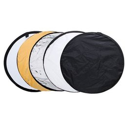 reflective board 2019 - 5pcs 80cm Collapsible Multi Light Circular photography Reflective board cheap reflective board