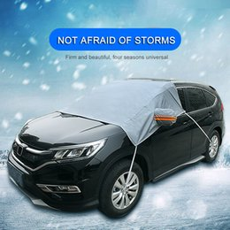 $enCountryForm.capitalKeyWord Australia - Universal Car Auto Windshield Cover Sun Shadow Protector Winter Thickening Anti-frost Anti-freeze Snow Glass Parasol Protection