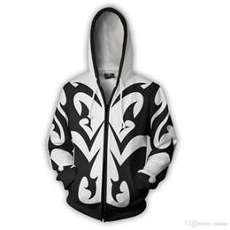 Men aniMe sweater online shopping - Kingdom Hearts costume Men Women Sweatshirt Xemnas Cosplay Anime D Printed Sweatshirt zipper Cartoon hooded Sweater Jackets