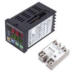$enCountryForm.capitalKeyWord Australia - Freeshipping Digital Programmable PID Temperature Controller LED Thermometer SSR TC RTD + 24V-380V 25A SSR-25 DA Solid State Relay Module