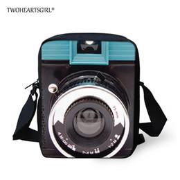 Check Camera NZ - Twoheartsgirl Men Messenger Bags Vintage Camera Printing Crossbody Bag For Boys Casual Small Children Kids Shoulder Bags