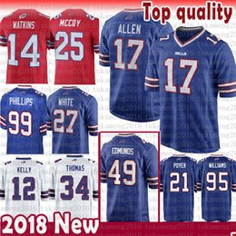 7cf284e2fb8d ArizonA cArdinAls jersey online shopping - 17 Josh Allen Buffalo Jersey  Bills Tremaine Edmunds Kelly LeSean