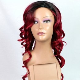 light brown blonde highlights 2019 - black Ladies' Long curly hair wigs Highlights Synthetic Hair Hoods Hot Style Wigs Are Fashionable in Europe and Ame
