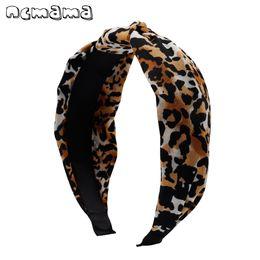 ed5915f51b Boêmio Top Atada Hairband Zebra Leopardo Impresso Hairband Largo Tecido  Elástico Headwear Para As Mulheres Meninas Acessórios Para o Cabelo