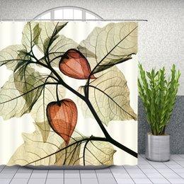 $enCountryForm.capitalKeyWord Canada - Plant Floral Shower Curtains X Ray Creative Bathroom Decor Waterproof Polyester Flower Shower Curtain Set 69 X 70 Inch With Hooks