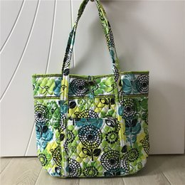 Discount green tote bags wholesale - Designer Pastoral Style Floral Women Handbags VB Brand Shoulder Shopping Bags Flower Ladies Duffel Bag Travel Tote Weeke