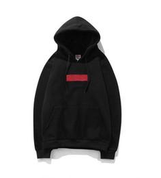 Großhandel Mens Brand Designer Box Logo Bestickte Hoodies Hip Hop Sweatshirt Lässig Männlichen Mit Kapuze Pullover Winter Jumper