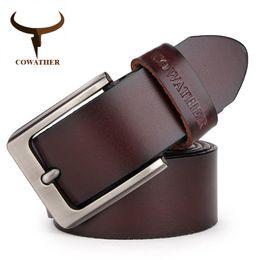 $enCountryForm.capitalKeyWord Australia - Cowather Men Belt Cow Genuine Leather Designer Belts For Men High Quality Fashion Vintage Male Strap For Jeans Cow Skin Xf002 Y19051803