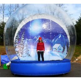 Günstige aufblasbare Dekoration Schnee-Kugel für Weihnachten 3M Dia Menschliche Größe Aufblasbare Schnee-Kugel für Verkauf Klar Weihnachten Yard Schneekugeln im Angebot